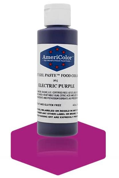 Colorante en gel suave electric purple 4.5onz