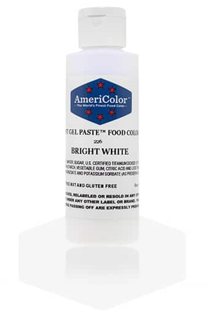 Colorante en gel suave bright white 6onz