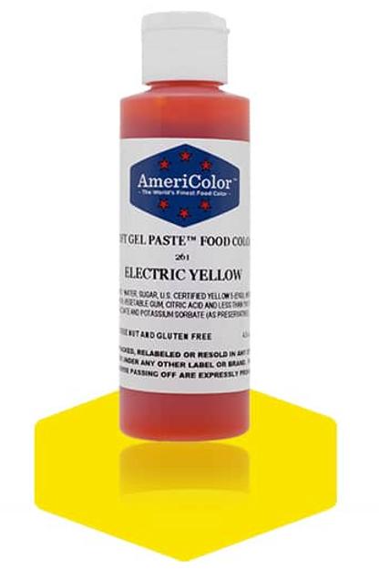 Colorante en gel suave electric yellow 4.5onz