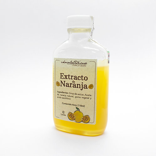 Extracto natural de naranja 4onz
