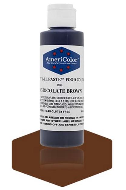 Colorante en gel suave chocolate brown 4.5onz