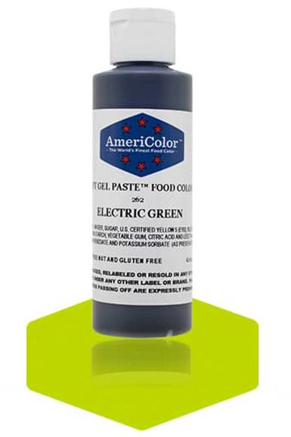 Colorante en gel suave electric green 4.5onz