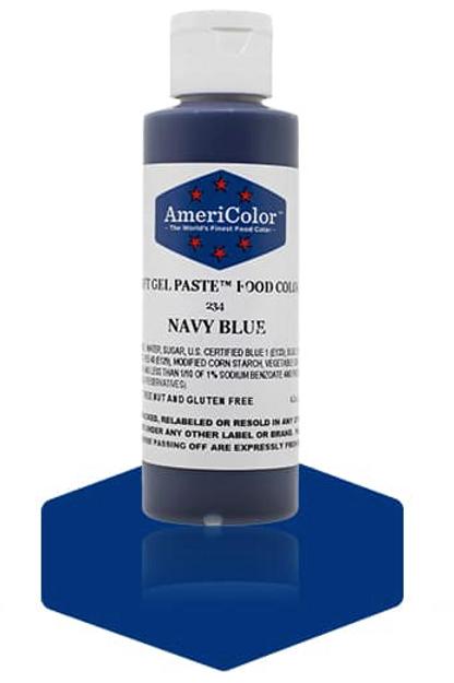 Colorante en gel suave navy blue 4.5onz