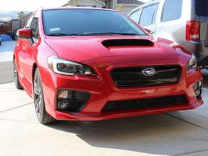 Ceramic Coating a Red and a Grey Subaru WRX Makes them Look Very Shiny! Pictures included.
