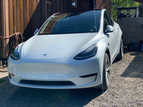 10 Year Ceramic Coating on a New White Tesla Model Y