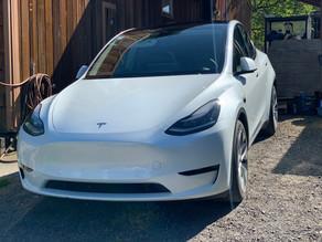 10 Year Ceramic Coating on a New White Tesla Model Y