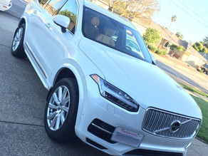 Installing a Permanent Ceramic Coating on a White Volvo XC90. Pictures:
