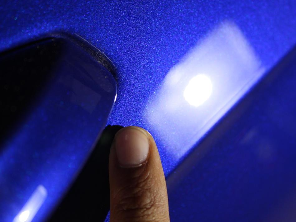 Light Scratch Beneath Door Handle - After