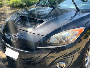 Two Step Paint Correction on a Very Swirled Black Mazda. Results are impressive! Pictures included.