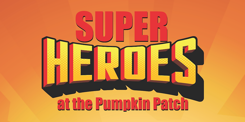 Super Heroes at the Pumpkin Patch