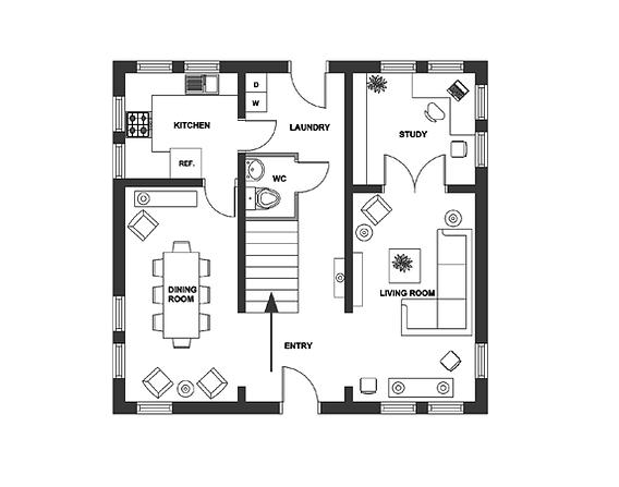 2D Room Design Floor Plan