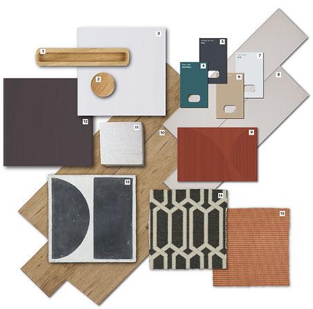 Living Room Material Board