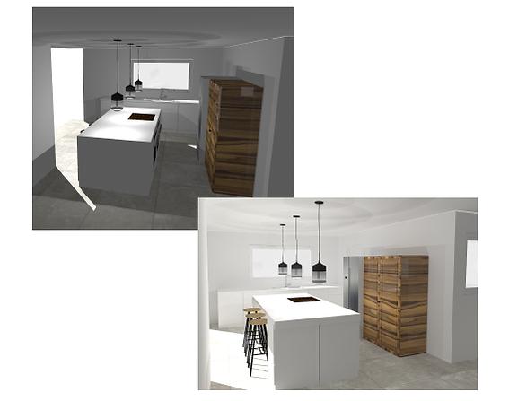 3D Kitchen Design Visuals