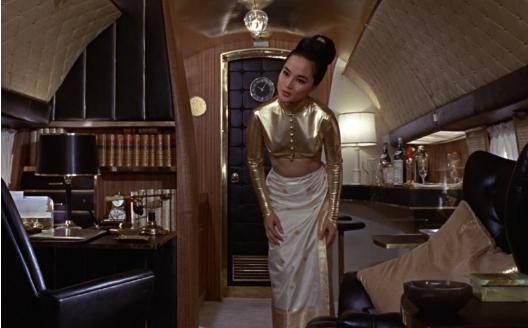 Bond inspired interiors, lush art deco gold interiors