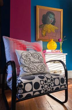 London renovation modern eclectic living roomliving room