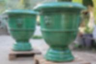 vase faune vert 90 cm