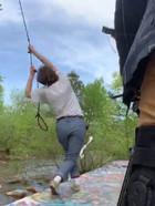 rope swing between takes