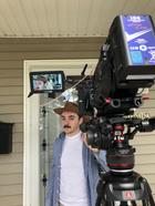 Alex Tichy on set of Phosphenes Video