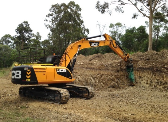 22t Excavator with Hammer Attachment