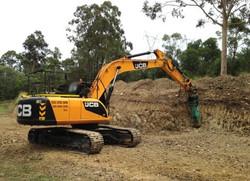 22t Excavator with Hammer Attachment