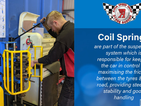 What are coil springs and what do they do?