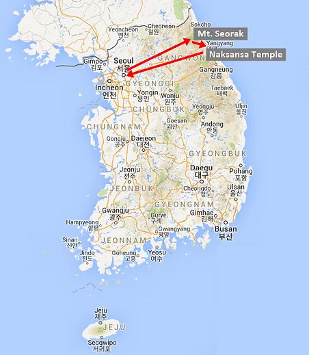 tour map- Seorak - Naksansa Temple.png