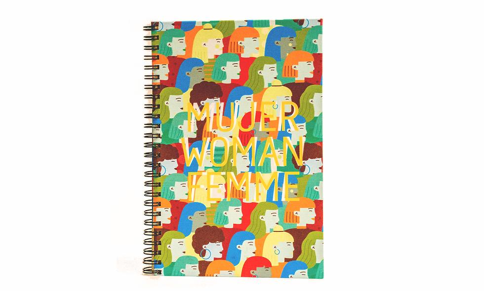 Cuaderno Media Carta Mujer Woman Femme