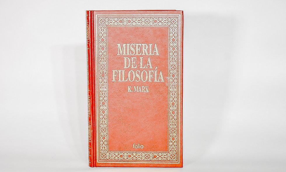 MISERIA DE LA FILOSOFÍA