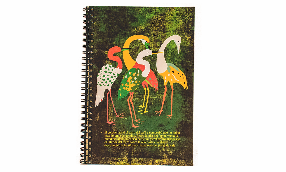 Cuaderno Media Carta Flamencos