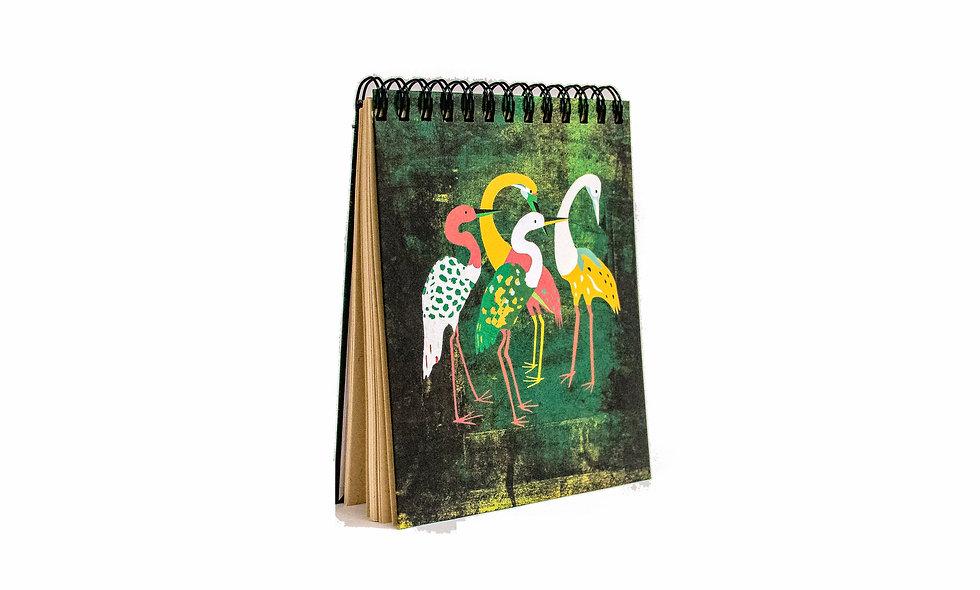 Cuaderno Cuarto de Carta Flamencos