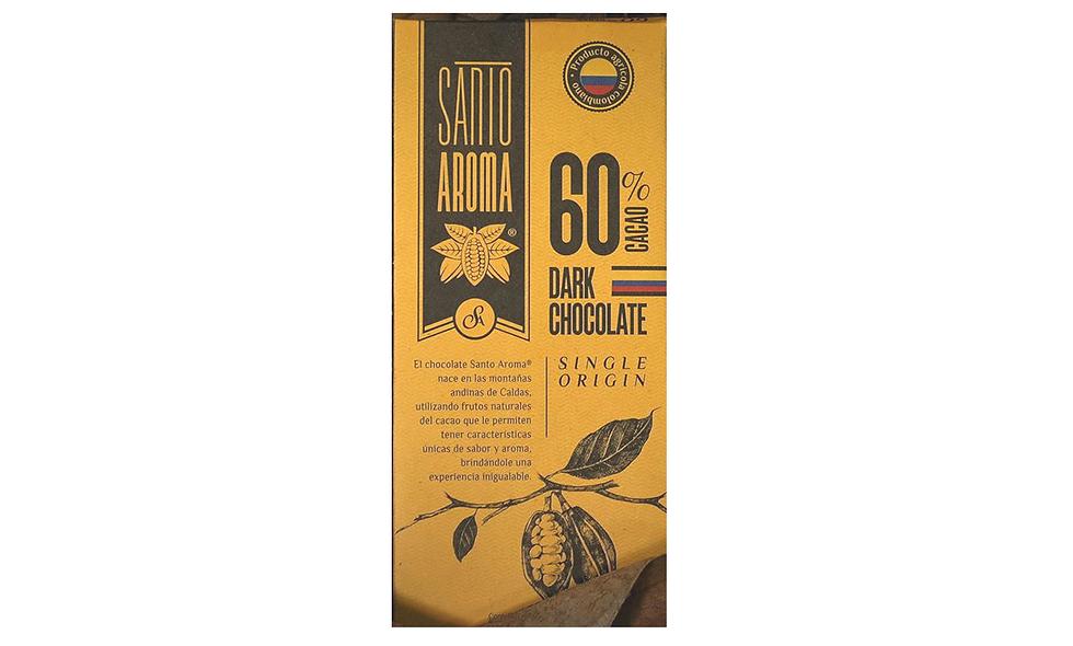 Barra de Chocolate 60% Cacao Santo Aroma