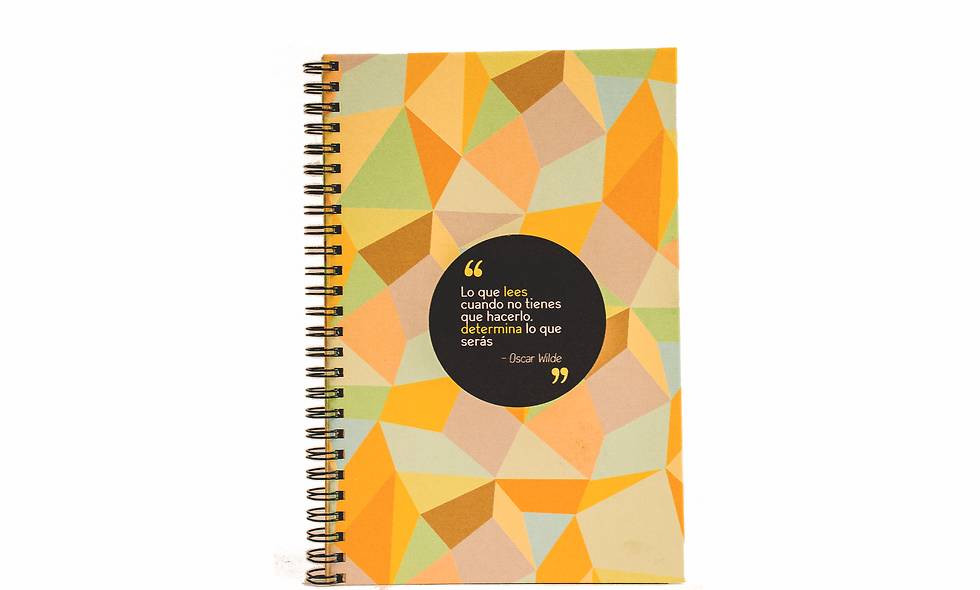 Cuaderno Media Carta Oscar Wilde