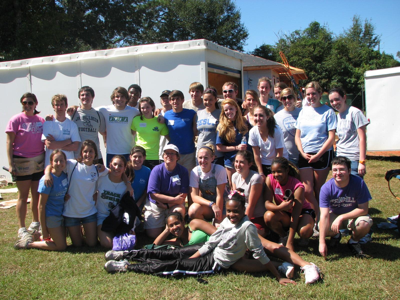 Spring Hill College volunteers