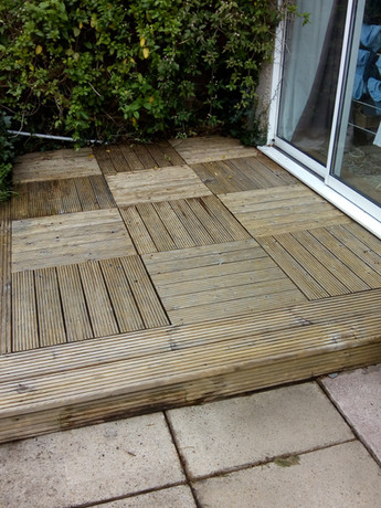 Decking afterwards