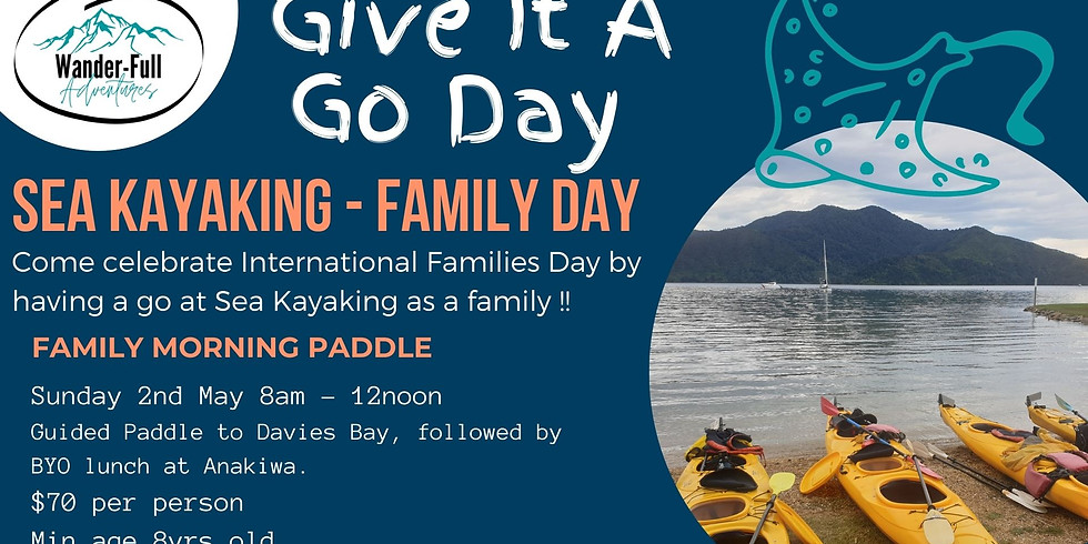 Give It A Go Day - Family Sea Kayaking Adventure