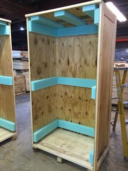Foam Lined Wood Crate
