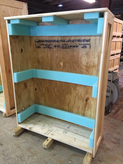Wood Shipping Crate - Foam Lined