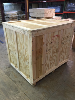 Wood Crate with Access Panels