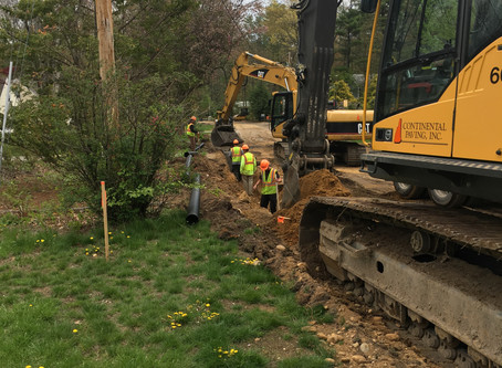 North Amherst and Campbell Road Work Resumes