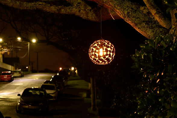 lampshade in street