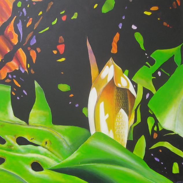 acrylic on canvas 910 mm sq