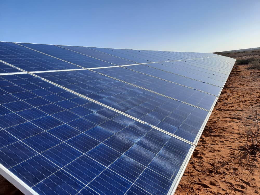 Solar installation in Mariental
