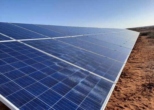 Solar installation in Mariental