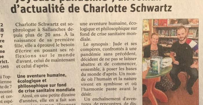 Joyeuse Pandémie - Acticle du journal Le Dauphine - Septembre 2020