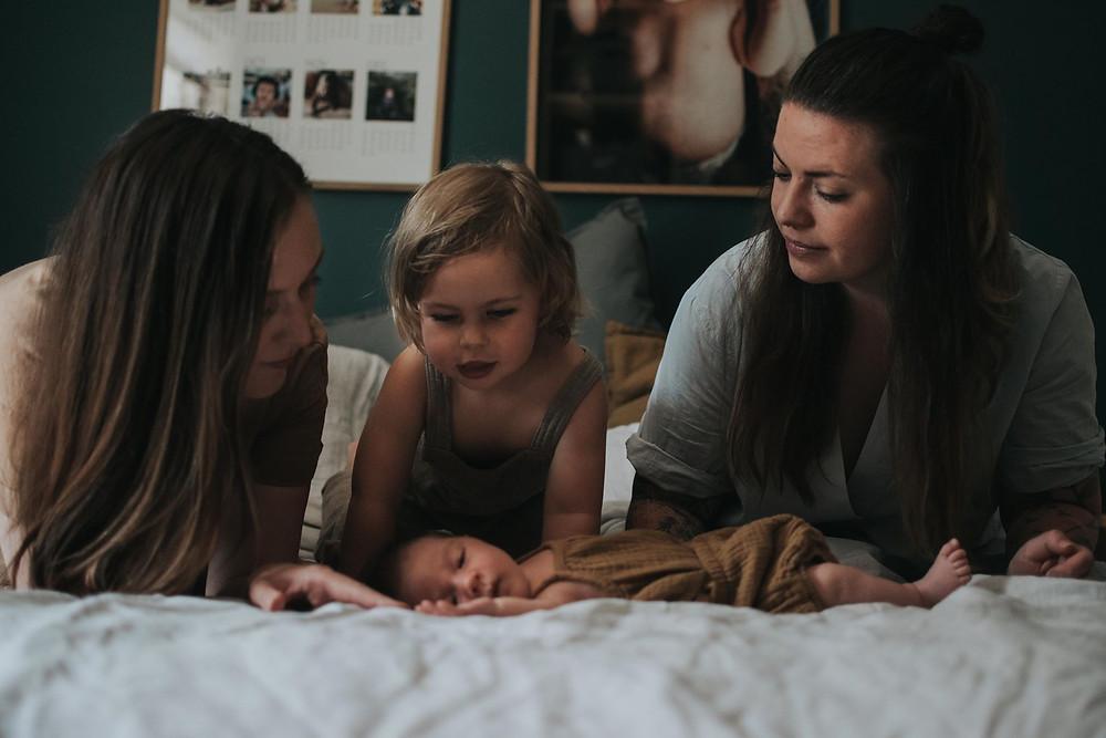 Annelin og familien etter fødsel