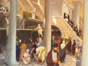 סוכות שחל בשבת במקדש