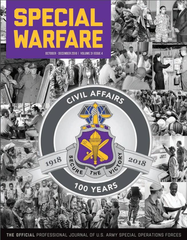 Special Warfare Magazine for Civil Affairs 100