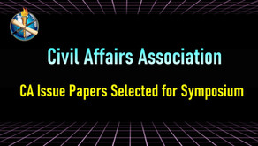 Committee Selects Civil Affairs Issue Papers for Symposium