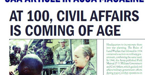 At 100, Civil Affairs Is Coming of Age - Army Magazine