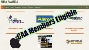 CAA Members Eligible for AUSA Member Savings Program